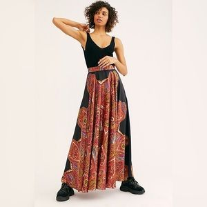 NWOT Free People Paisley Dreams Boho Maxi Skirt